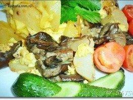 Грибы с картофелем в горшочке