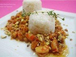 Рис с креветками и медом