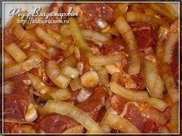 Вариант маринада для мяса на шампурах на мангале