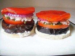 Бутерброд с баклажанами.