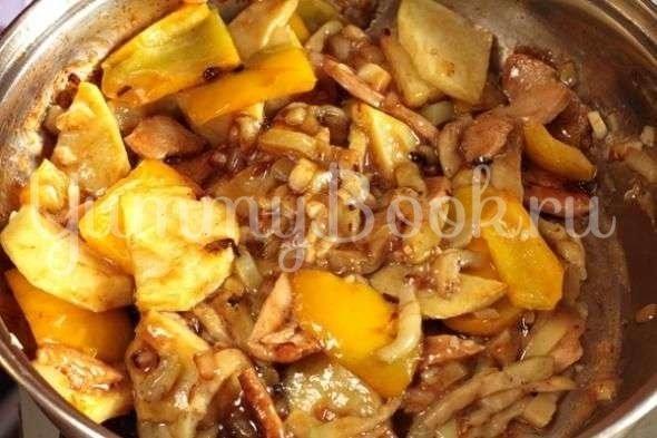 Закуска из баклажанов, картошки и перца