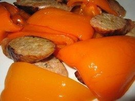 Перец запеченный с Итальянскими колбасками