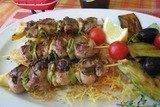 Шашлычки из свинины фаршированные