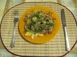 Мясо - картофельная запеканка