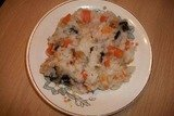 Сладкая рисовая каша с тыквой