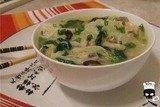 Острый суп с шиитаке и пекинской капустой