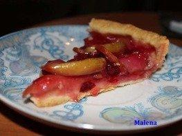 Пирог яблочно-клюквенный