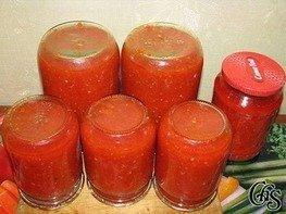 Аджика с помидорами