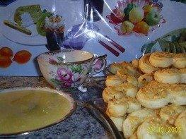 Лимонное варенье и печенье