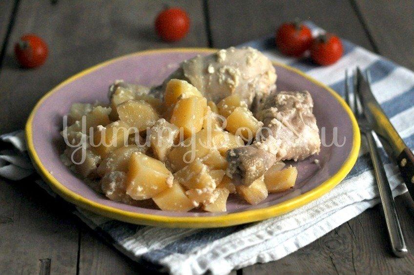 Куриные ножки запеченные с картофелем в рукаве