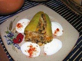 Перцы фаршированные (постное блюдо)