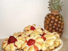 Печенье с ананасом
