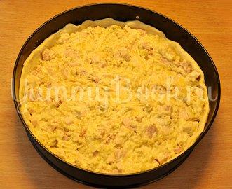 Пирог с ветчиной, курицей и луком - шаг 9