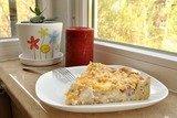 Пирог с ветчиной, курицей и луком