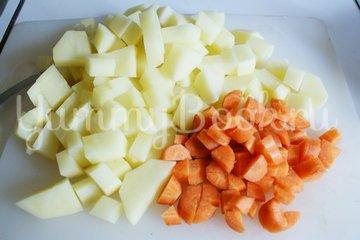 Сырный суп с грибами - шаг 1
