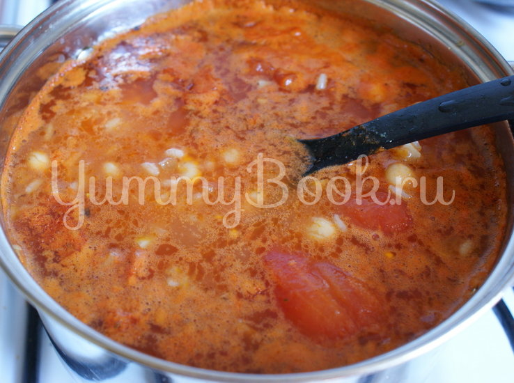 Томатный суп-пюре с фасолью и рисом - шаг 5