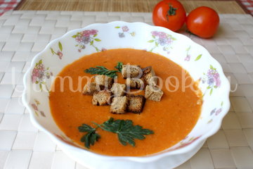 Томатный суп-пюре с фасолью и рисом - шаг 7