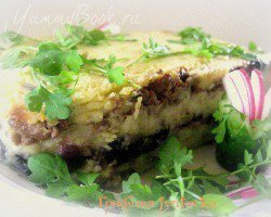 Картофельная запеканка с грибами и фаршем - шаг 9