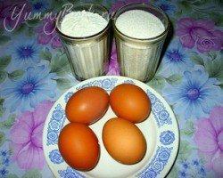 Фруктово-бисквитный торт - шаг 1