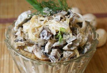 Баклажанно-грибной салат - шаг 9