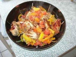 Крылышки куриные, запеченные на сковородке