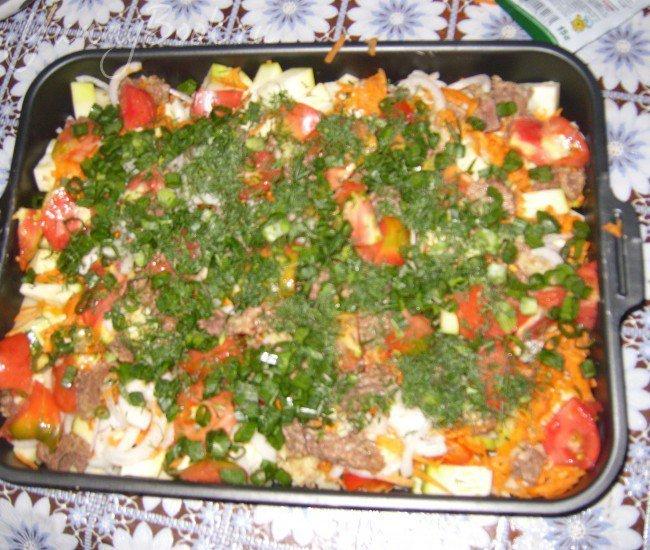 Запеканка овощная с тушенкой - шаг 2