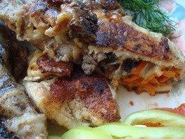 Кармашки из мяса с грибами и сыром (1 вариант)