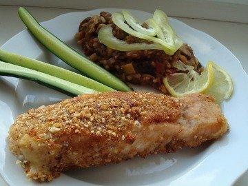 Рыба в миндальной панировке