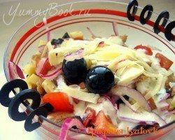 Теплый салат с курицей - шаг 8