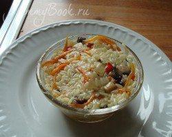 Рис с овощами и грибами - шаг 3