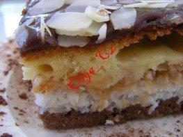 Яблочно-кокосовый пирог/торт с халвовой глазурью