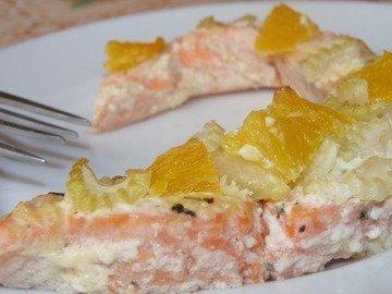 Апельсиновая рыба с чесноком