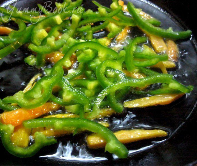 Спагетти с овощами в сливочном соусе - шаг 1
