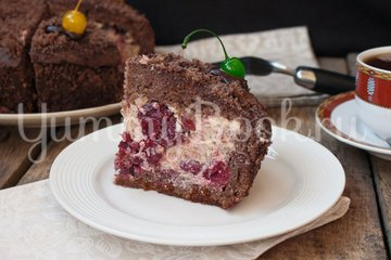 Торт «Пьяная вишня» - шаг 17