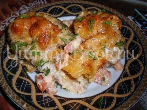Рыба по-гречески с сыром