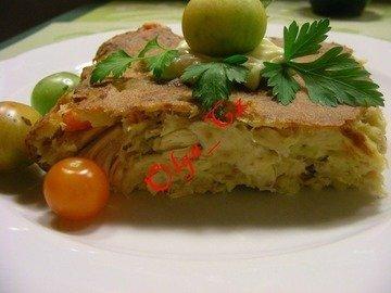 Куриный ленивый пирог-запеканка