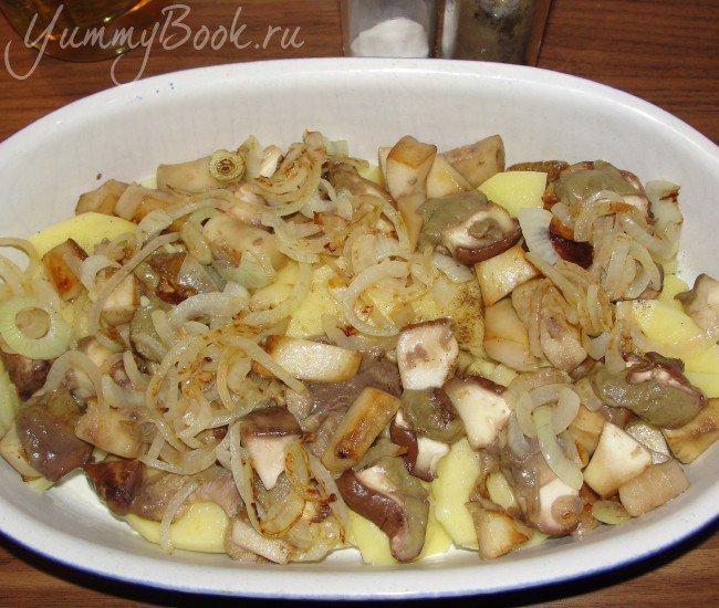 Картофельно-грибная запеканка - шаг 5
