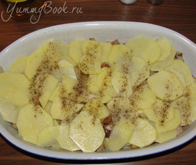 Картофельно-грибная запеканка - шаг 6