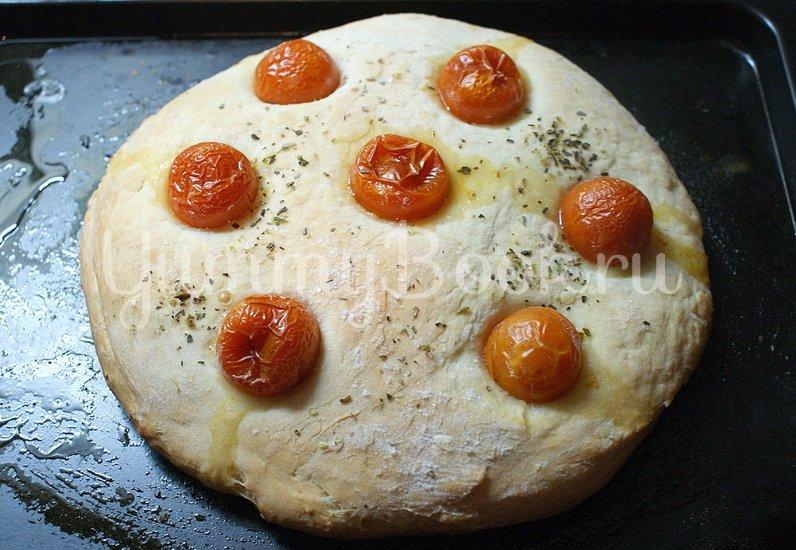 Фокачча с помидорами черри - шаг 5