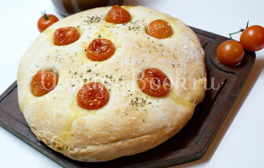 Фокачча с помидорами черри - шаг 6