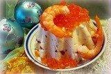 """Закуска """"Тимбалы"""" с красной рыбой и икрой"""