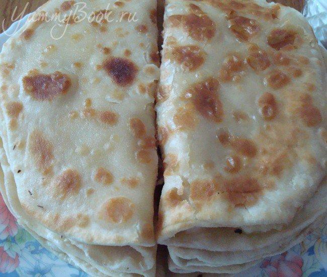 Кыстымбы (лепешки с картофельным пюре) - шаг 6