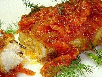 Морская рыба по-гречески