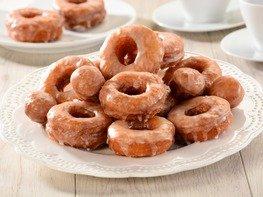 Пончики сахарные с глазурью