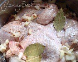 Цыпленок (курица) табака - шаг 2