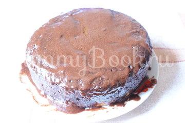 Шоколадный пирог с творожными шариками в мультиварке - шаг 9