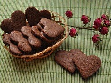 Шоколадно-кофейные валентинки