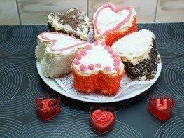 """Бисквитные пирожные """"Валентинки"""""""