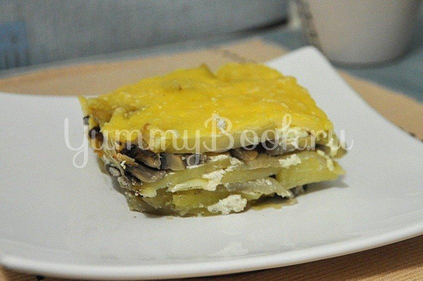 Картофель с грибами под сыром