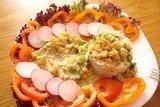 Рыба с креветками в белом соусе